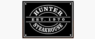 Hunter steakhouse logo est. 1970